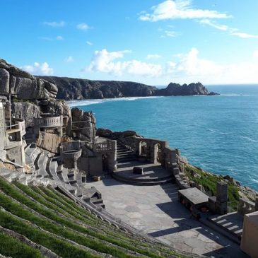 Sunshine over the Minack Theatre this morning. Why not book a short spring break here at Chegwidden and enjoy what West Cornwall has to offer! Visit our website www.chegwiddenfarm.com or airbnb for more information.